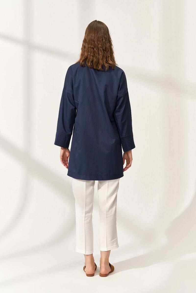 Casual Cotton Gömlek Lacivert